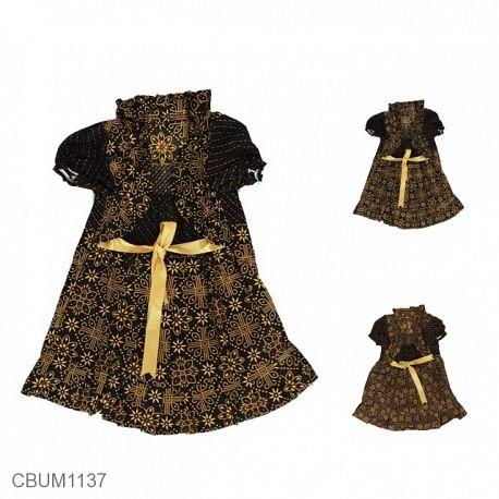 Dress Anak Yolanda Katun Motif Capocino Size S