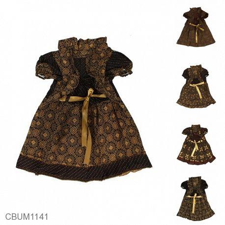 Dress Anak Yolanda Katun Motif Capocino Size M