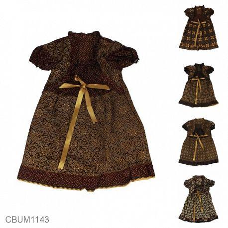 Dress Anak Yolanda Katun Motif Capocino Size L