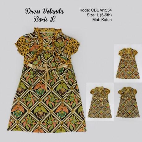 Dress Anak Yolanda Baris SIze L