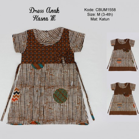 Dress Batik Anak Hasna Motif Garis M