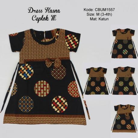 Dress Batik Anak Hasna Motif Ceplok M