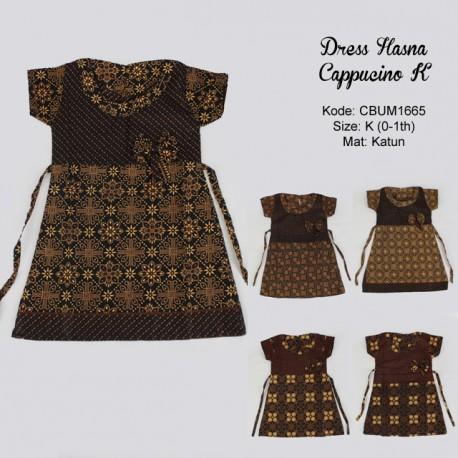 Dress Batik Anak Hasna Motif Cappucino Size K