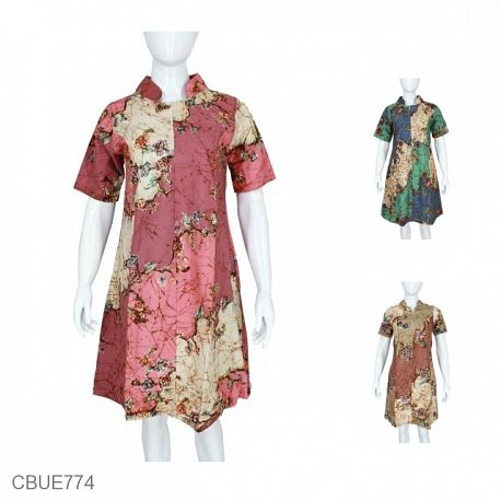 Dress Batik Manja Abstrak