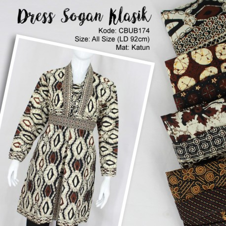 Dress Batik Motif Sogan Klasik
