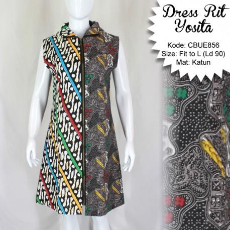 Dress Batik Rit Yosita Kawung