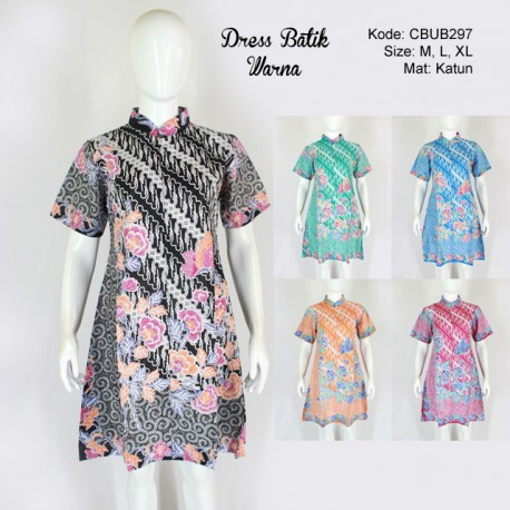 Dress Batik Warna Motif Parang