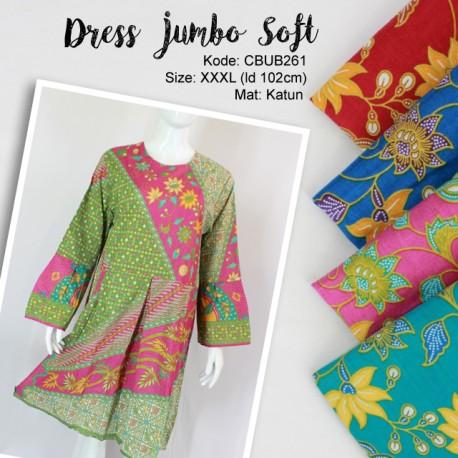 Dress Jumbo Soft Motif Bunga