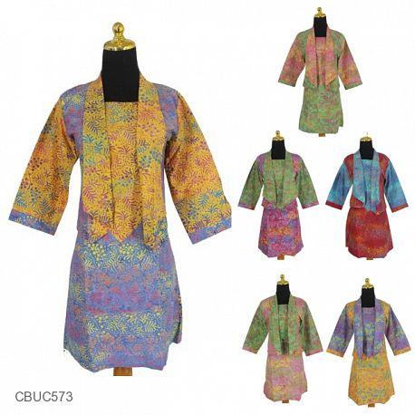 Dress Kumala Katun Motif Serat Godhong
