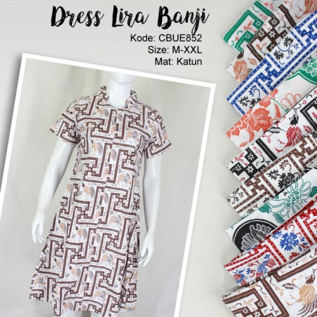 Dress Lira Batik Motif Banji