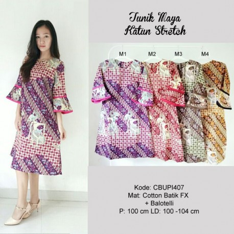 Dress Maya Batik Katun Stretch