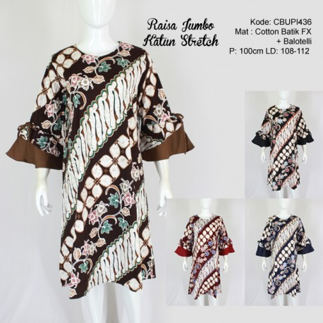 Dress Raisa Jumbo Batik Katun Stretch
