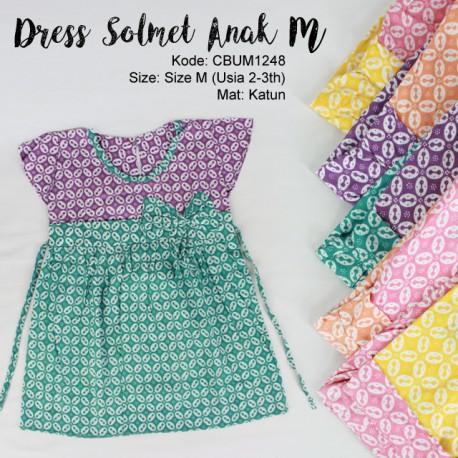 Dress Solmet Anak Kawung Size M