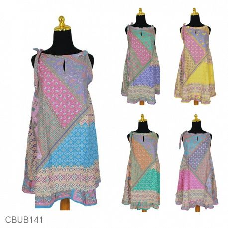 Dress Tali Motif Kotemporer Soft