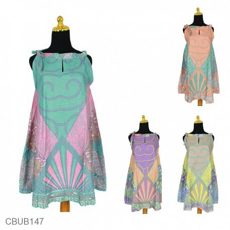 Dress Tali Motif Sinar Akar