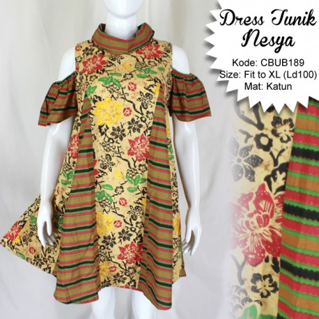 Dress Tunik Nesya Kembang