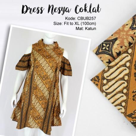 Dress Tunik Nesya Coklat Kasik