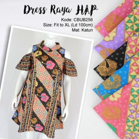 Dress Tunik Raya Motif Kembang Wajik