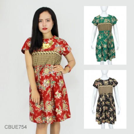 Dress Umaya Katun Motif Bunga
