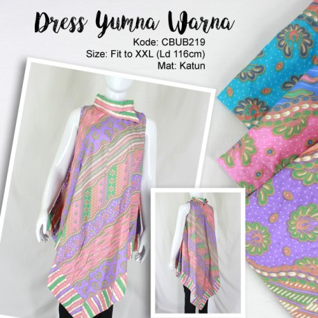 Dress Yumna Katun Motif Bunga