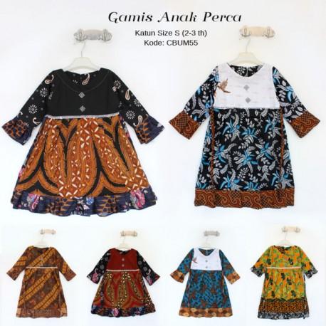 Gamis Anak Batik Perca Size S