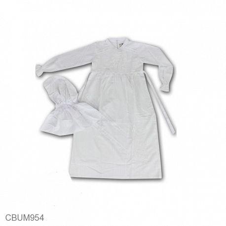Gamis Anak Harum Motif Bunga Putih Size 5,6