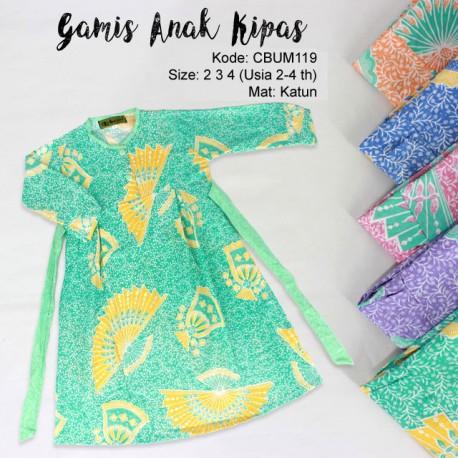 Gamis Anak Kipas No 2,3,4