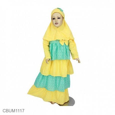 Gamis Anak Sally Kuning Size 1