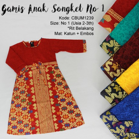 Gamis Anak Songket No 1