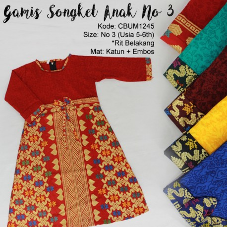 Gamis Anak Songket No 3