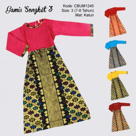 Gamis Anak Songket Size 3
