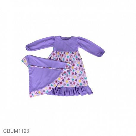 Gamis Anak Syar'i Lavender Size 2