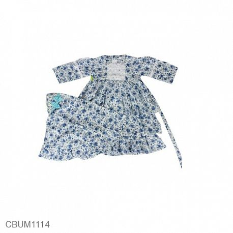 Gamis Anak Tania Biru Size 1