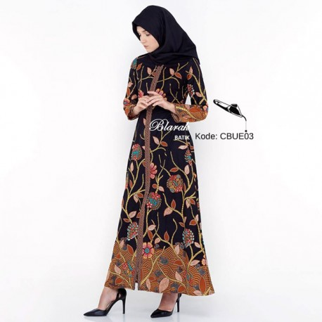 Gamis Batik  Blarak Motif Rawa Hitam