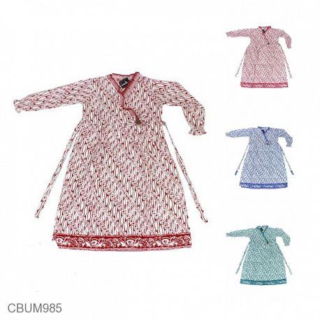 Gamis Batik Anak Katun Motif Parang No 2