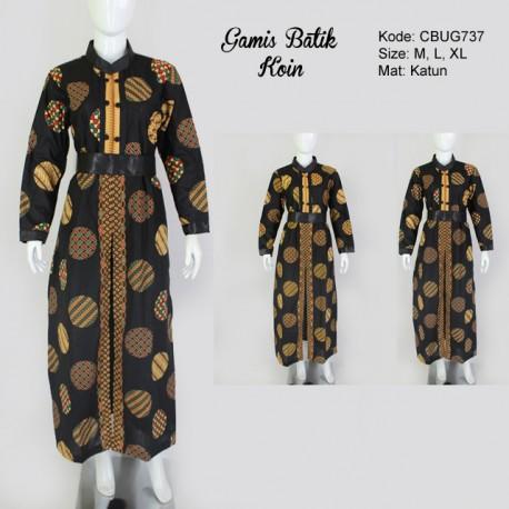 Gamis Batik Cemeng Koin