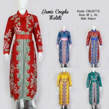 Gamis Batik Couple Cibulan Melati