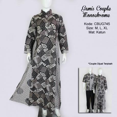 Gamis Batik Couple Monochrome