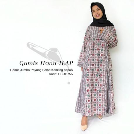 Gamis Batik Hana HAP Motif Kawung Rante