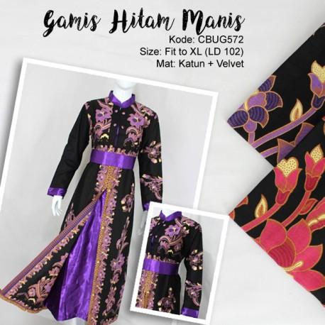 Gamis Batik Hitam Manis