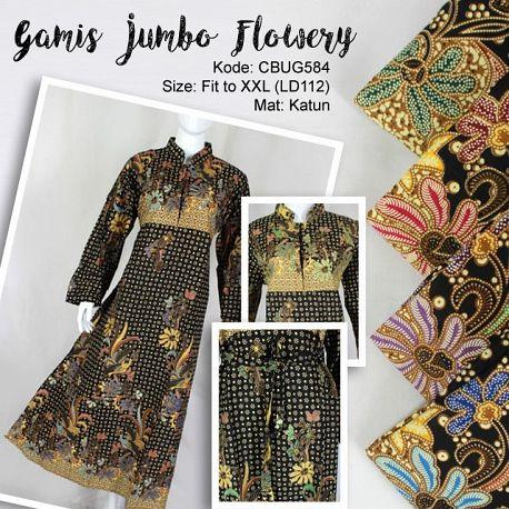 Gamis Batik Jumbo Flowery
