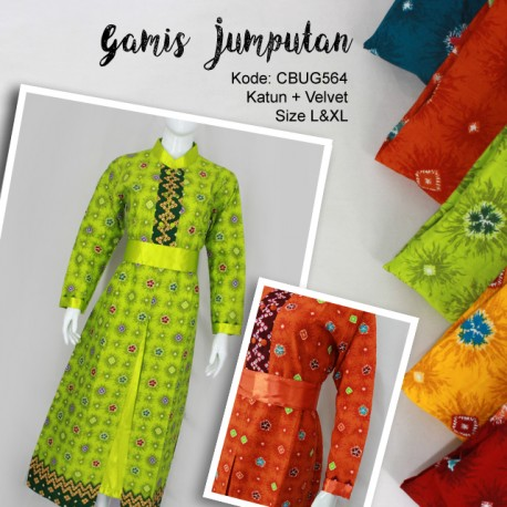 Gamis Batik Jumputan