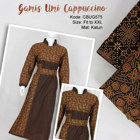 Gamis Batik Katun Cappoccino
