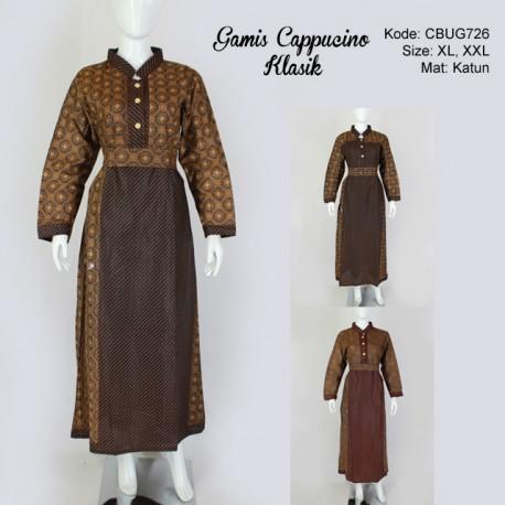 Gamis Batik Katun Cappucino