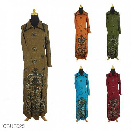 Gamis Batik Motif Kuncup Bunga Riti