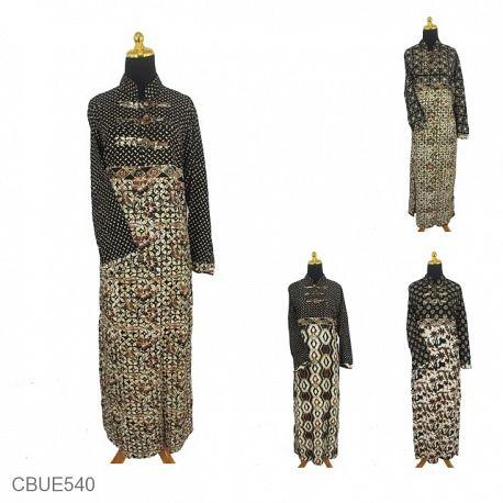 Gamis Batik Motif Sogan Kawung Winih