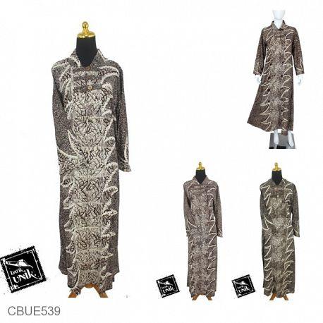 Gamis Batik Motif Sogan Godhong Sansivera