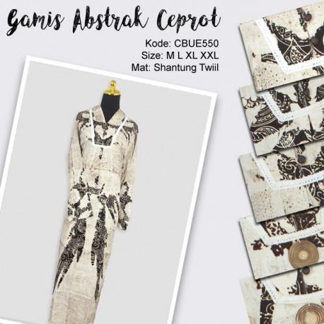 Gamis Batik Motif Abstrak Ceprot