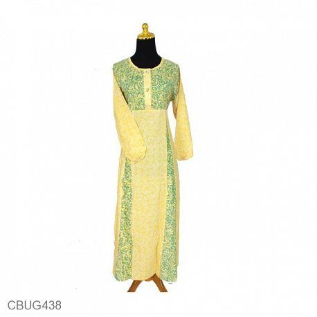 Gamis Batik Motif Kotemporer Bunga