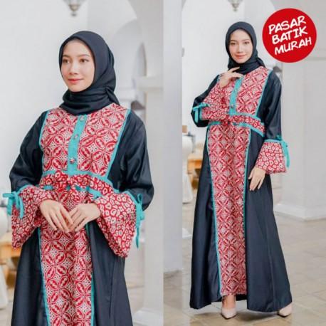 Gamis Dailywear Batik Merah